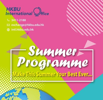 Summer Programmes for HKBU Students - APPLY NOW!